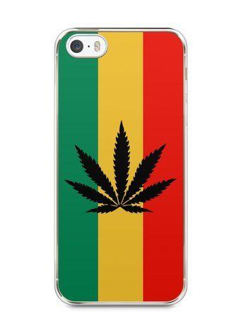 Capa Iphone 5/S Rasta Weed #2