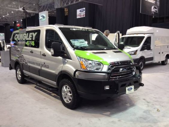 quigley 4x4 at the cleveland auto show ford transit sporting aluminess front and rear bumpers. Black Bedroom Furniture Sets. Home Design Ideas