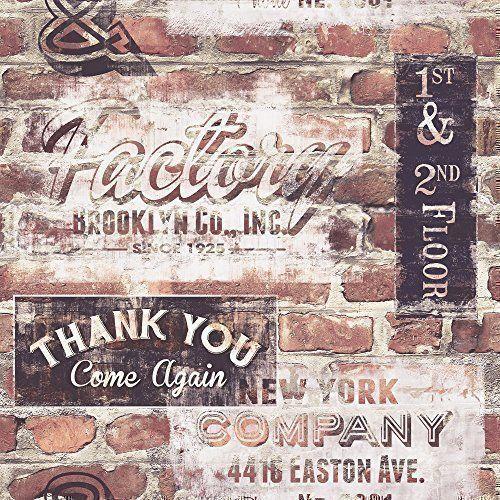 rasch portfolio new york terrakotta rote ziegelwand retro schilder tapete 238600 elite http - Unbehandelte Ziegelwand