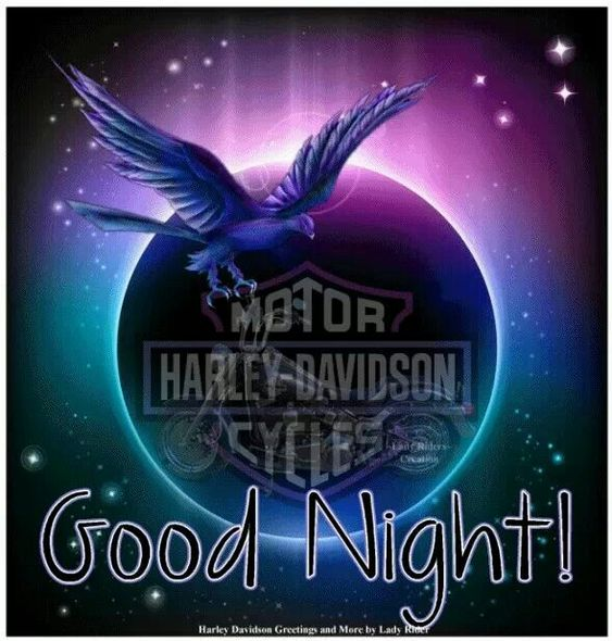 good night harley davidson quotes an pictures. Black Bedroom Furniture Sets. Home Design Ideas
