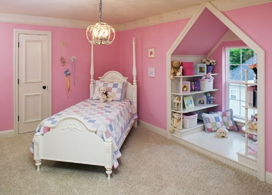 The second-story bedroom of this classic #Southern #home makes clever use of dormer space. The Santee #plan and photos can be viewed at http://www.dongardner.com/plan_details.aspx?pid=2697.