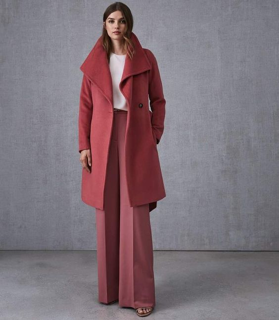Reiss Luna Wool Self Tie Coat