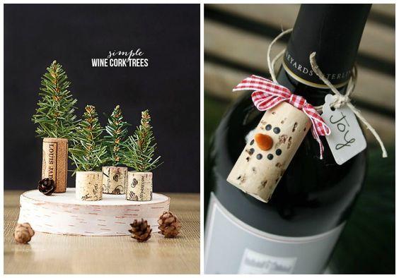 Manualidades con corchos para hacer decoración de navidad con los peques de casa. Reciclaje y buenos momentos en familia.