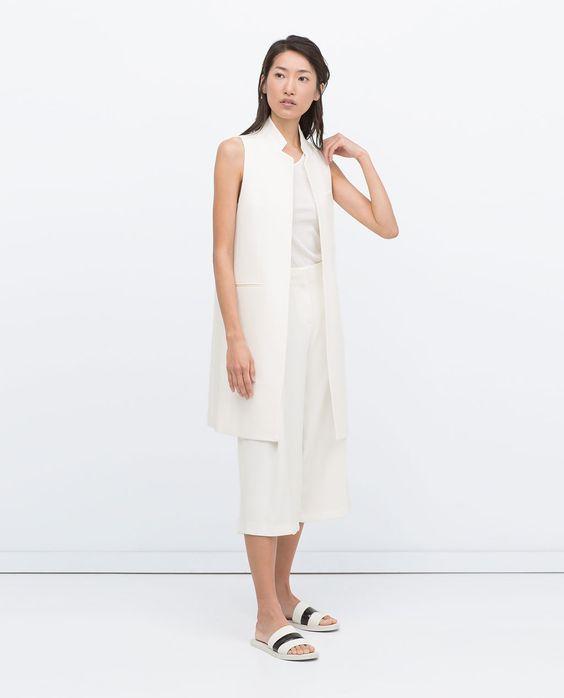 Image 1 de GILET LONG de Zara