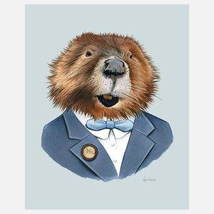 Beaver Male Print, $26