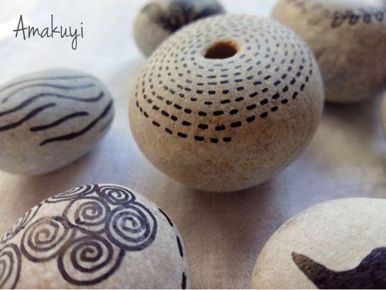Amakuyi, detalles hechos con tiempo y cariño....: Pintar Piedras relaja