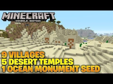 Minecraft Xbox One Ps4 Tu66 Seed 9 Villages 5 Desert Temples 1