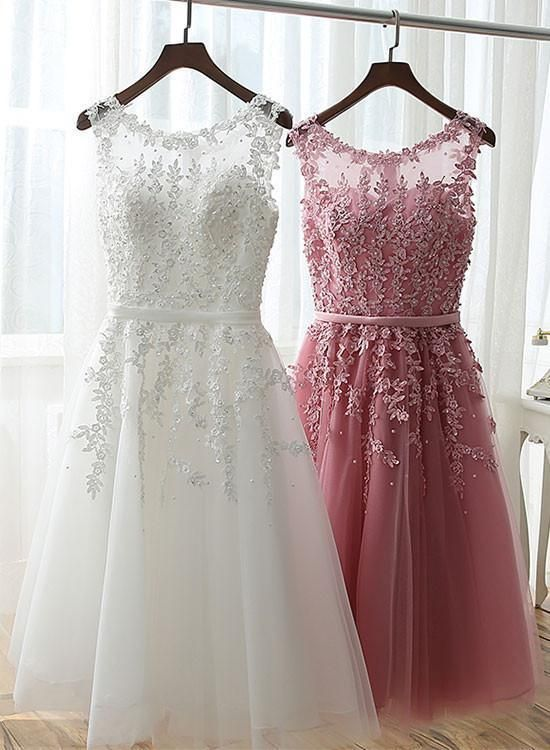 A Line Lace Short Prom Dress Lace Homecoming Dress With Images