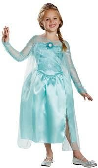 If your little girl loves Frozen then why not pick her up an Elsa Snow Queen Gown for her Frozen themed birthday party, Halloween or any other time she wants to feel like a princess!