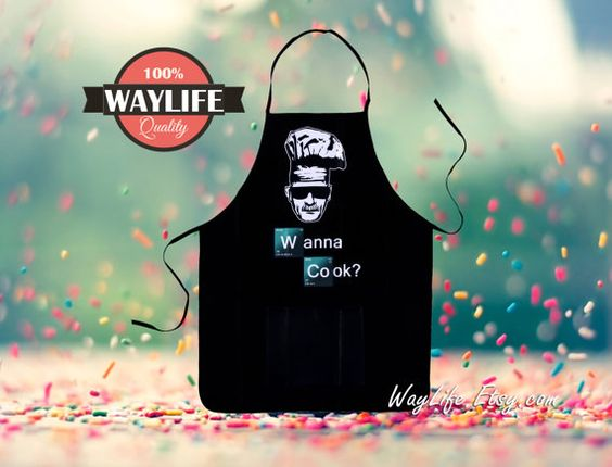 Hey, I found this really awesome Etsy listing at https://www.etsy.com/listing/252956255/mens-breaking-bad-aprons-wanna-cook