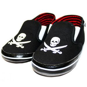 Rock And Roll Baby Gifts - Sourpuss Jolly Roger Slip On Baby Shoe