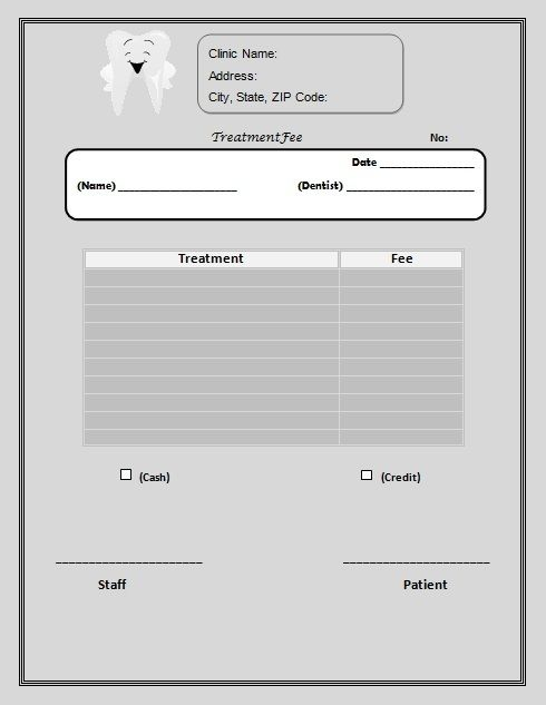 18 Dental Invoice Templates With Brilliant Designs Word Pdf Excel Template Sumo Invoice Template Excel Templates Dental