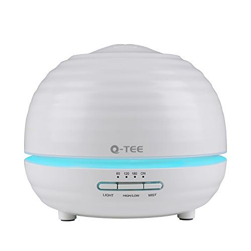 Multi-purpose 5 in 1 Aroma DiffuserHumidifierDesk LampAir Purifier IonizerNight Light;The Q-YEE aroma diffuser's ultrasonic waves silently vaporize water and essential oils to produce a refreshin...