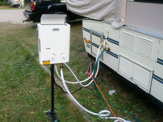 Popup Camper hot water heater system. Portable on demand propane ...