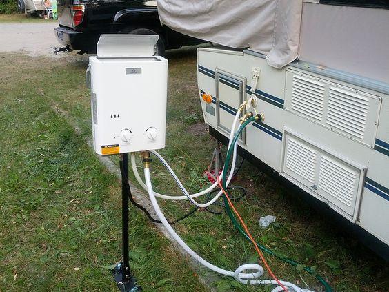 22 wonderful camper trailer hot water setup