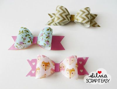 TITART: Tutorial - washi bows..
