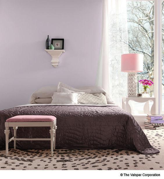 Winter Calm Light Lilac Purple Interior Wall Paint From Valspar