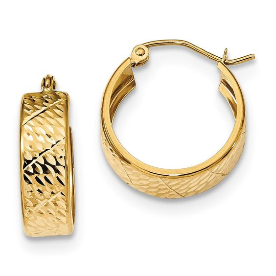 14k D\/C Hoop Earrings FREE Standard Shipping 14k Gold GUARANTEED - refund policy
