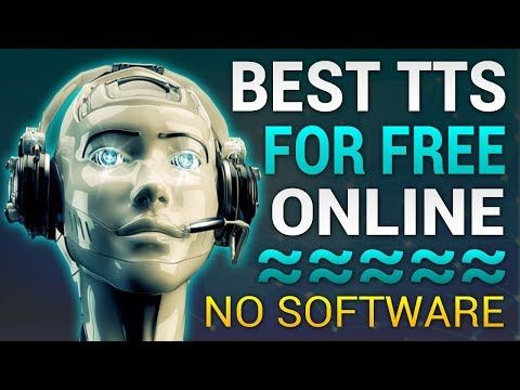 best text to speech online for free 2018 realistic voices
