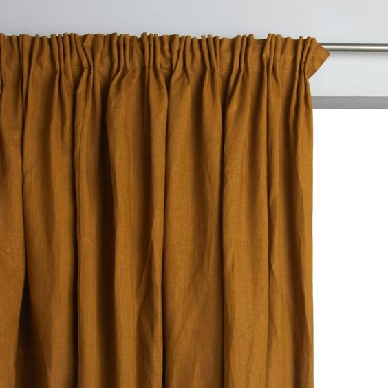 Curtains Ideas 220 drop curtains : La Redoute for these lined linen curtains and good quality washed ...