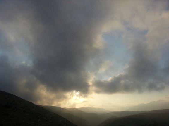 Amanecer de hoy en la montaña