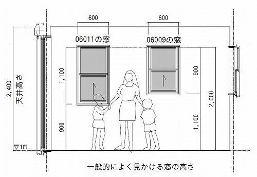 窓の上は2mで揃っている リフォーム 間取り リフォーム 階段 窓