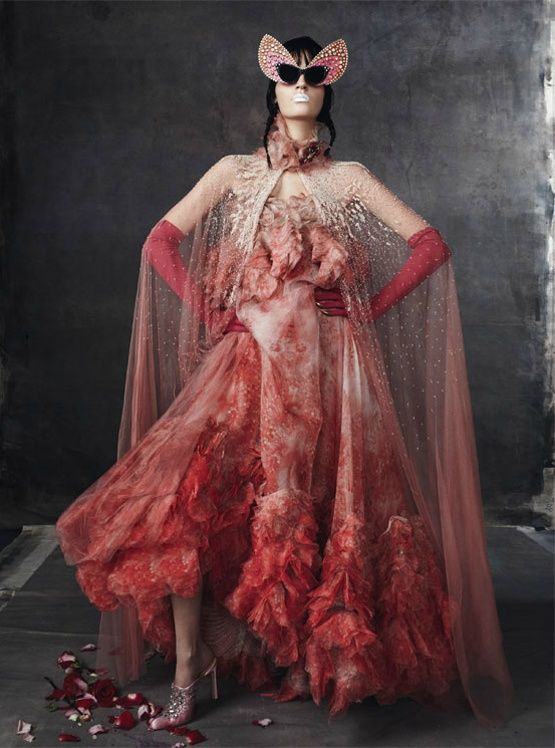 Laura Kampman by Steven Meisel for Vogue Italia February 2012