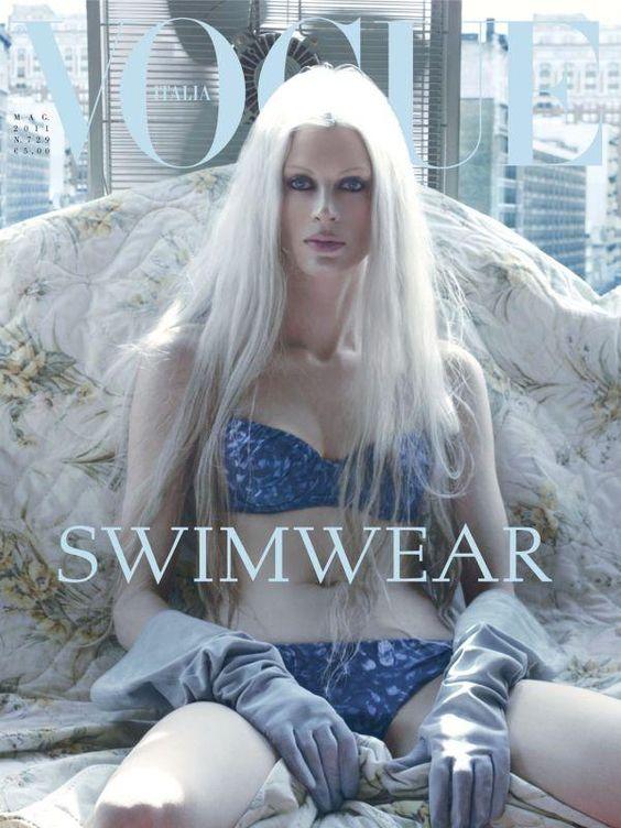 Kristen McMenamy, Zach, Loammi, Eugenly & Jacob | Steven Meisel | 'Hotel Chelsea' | Vogue Italia May2011 - 3 Sensual Fashion Editorials | Art Exhibits - Anne of Carversville Women's News