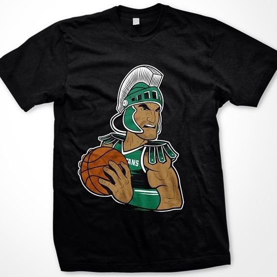 MichiganState #Sparty In The Post Tee! Be ready for #MarchMadness in this one of a kind tee! #Padgram