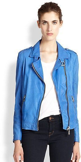 Ou we love this Doma Leather Moto Jacket that Zoey rocked on #Blackish S1E7