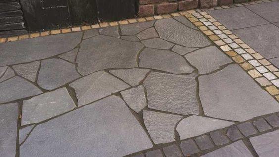 Polygonalplatten Alta Quarzit - Grau