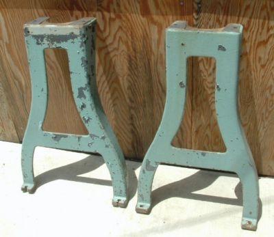 cast iron machine legs
