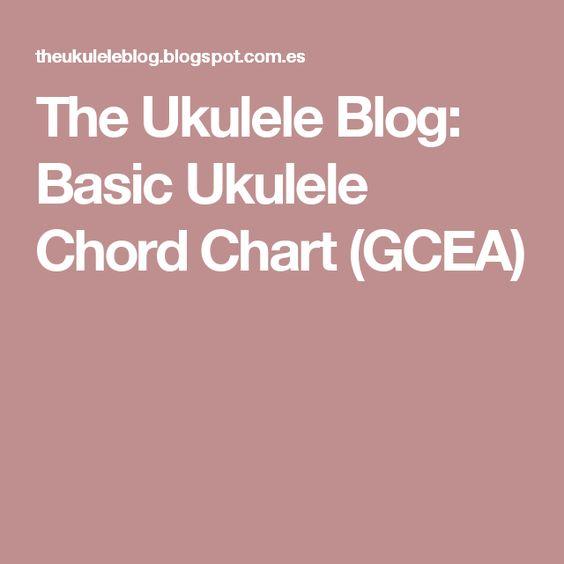 The Ukulele Blog Basic Ukulele Chord Chart (GCEA) Ukulele - ukulele chord chart