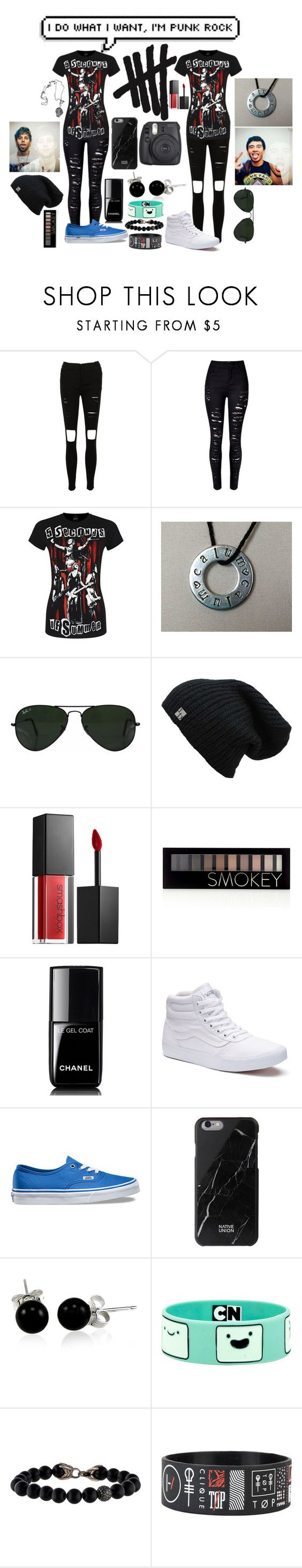 """5sos Concert with Aspen"" by fangirlfuture ❤ liked on Polyvore featuring Ray-Ban, Smashbox, Forever 21, Chanel, Vans, Native Union, Bling Jewelry and David Yurman"