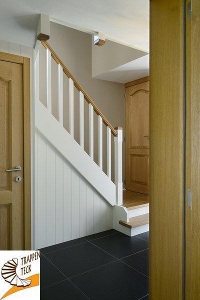 Houten trap landelijk interieur trappen teck landelijke trappen pinterest - Interieur houten trap ...