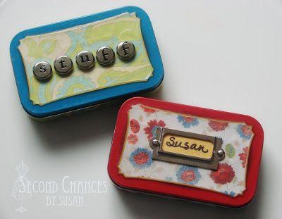 Cute little gift idea - turning Altoid tins into emergency purse kits.