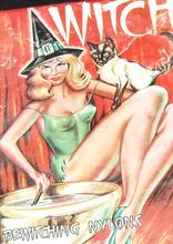 "1950/60s WITCH ~ ""Bewitching Nylons"" Pantyhose - From Chocolate Moon on Ruby Lane"