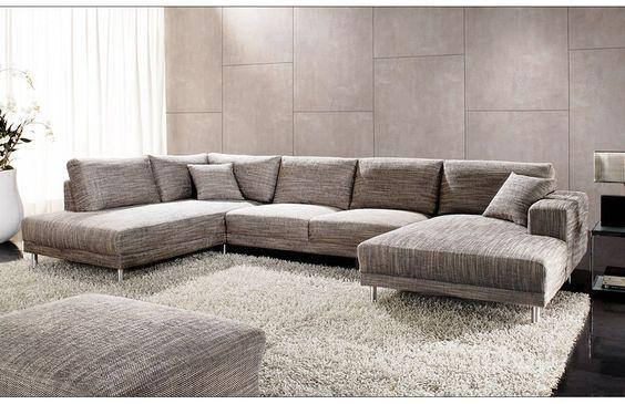großzügige Wohnlandschaft Modesto Base Dieses Sofa mit - harmonisches minimalistisches interieur design