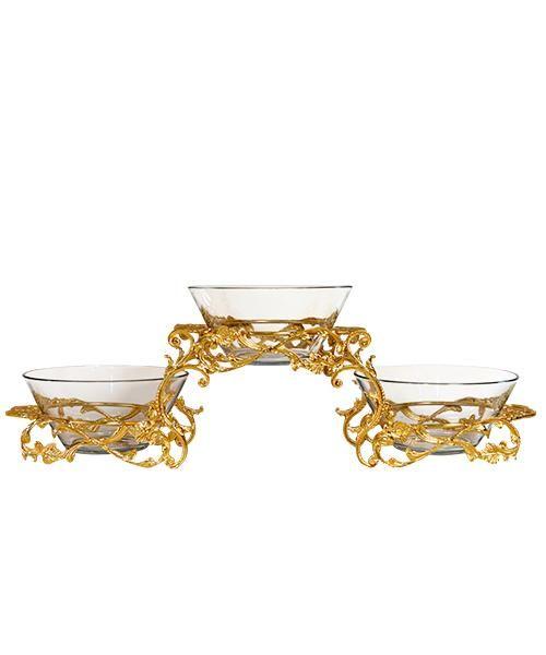 صحن ثلاثى زجاج Decorative Bowls Decor Home Decor