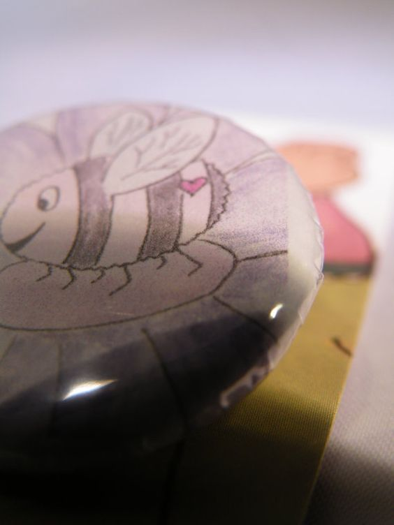 Hapbee Button Badge by LittlemouseLilly on Etsy, £1.00