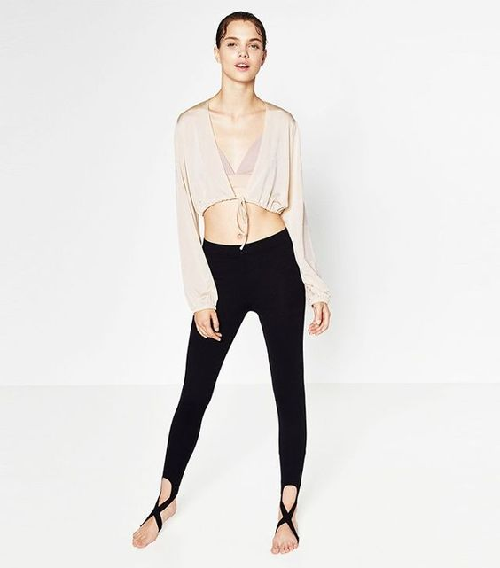 Zara Cropped Tie-Up Jacket
