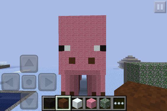 Cool minecraft pig!!