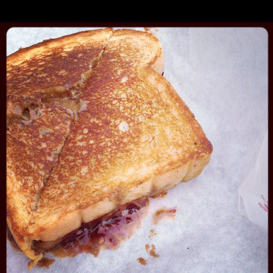 The Oregonian. Berry jam, rogue creamery blue cheese, homemade peanut butter grilled sammy.