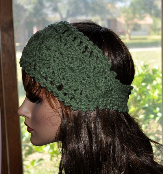 crochet headband pattern with button closure - Google ...