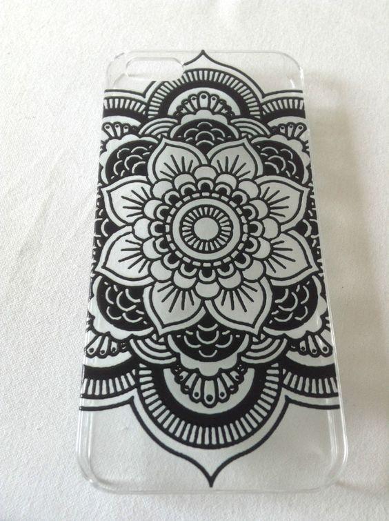 iphone 5 cover h lle schale blumen henna handy. Black Bedroom Furniture Sets. Home Design Ideas