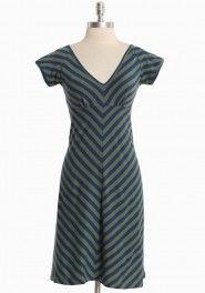 eco friendly, meadow striped dress by Synergy