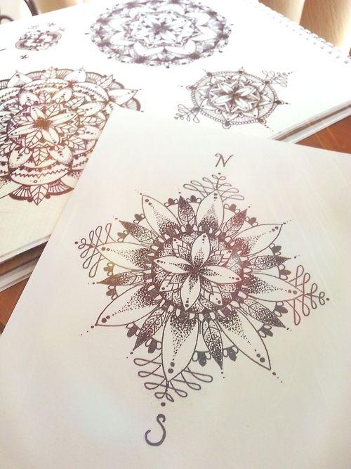 Soleil mandalas and milieu on pinterest for Mandala tattoo tumblr