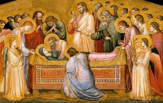 Giotto, Morte della Vergine, 1310, Gemäldegalerie, Staatliche Museen, Berlin