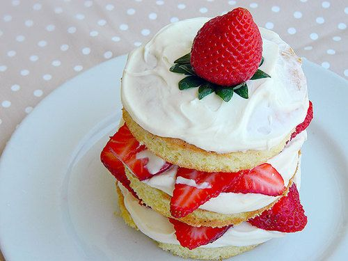 ...Receita de Mini Naked Cake de Morango - Comida do dia