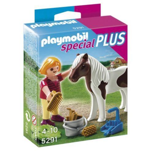 mini playmobil figure and horse- £2.99